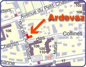 Ecole ardevaz map